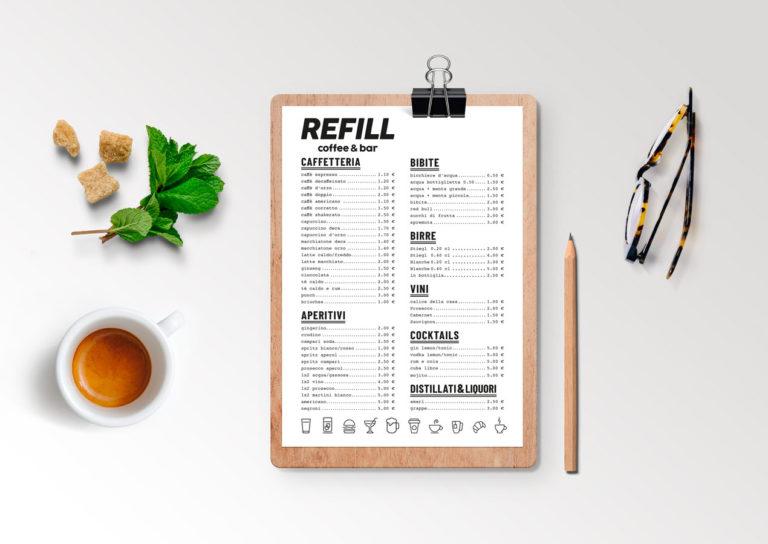 Logo Design Refill Coffee & Bar